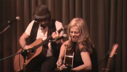 "Brigitte De Meyer & Will Kimbrough performing ""Say Big Poppa"" at Eddie's Attic"